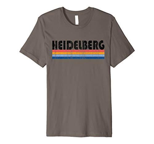 Vintage 1980er Stil Heidelberg Deutschland T-Shirt