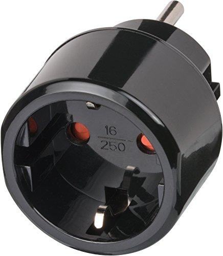 Brennenstuhl Schutzkontakt USA/J Reiseadapter (2,5 A, 250 V, Typ F DE) - 1508550