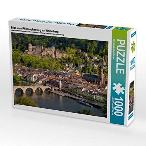 CALVENDO Puzzle Blick vom Philosophenweg auf Heidelberg 1000 Teile Lege-Größe 64 x 48 cm Foto-Puzzle Bild von Jan Christopher Becke
